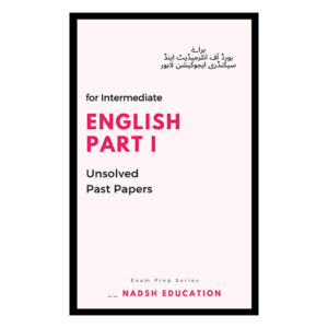 English past papers part i for intermediate lahore board